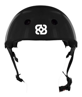 Capacete Bob Burnquist Coquinho Preto P Skate Patins Es143