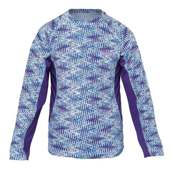 Polera Niña Sun Pro Long Sleeve T-shirt Rosa Fuerte Lippi