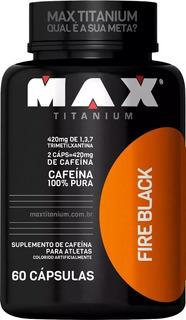 Cafeína 420mg Ultimate Fire Black 60cps - Max Titanium