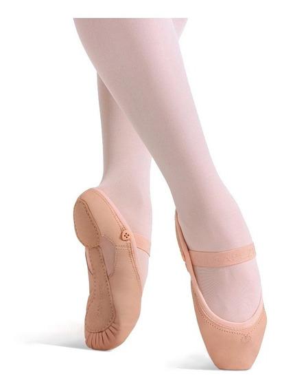 Zapatilla Media Punta En Cuero Love Ballet. Capezio Niñas