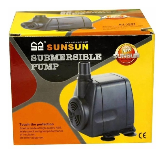 Bomba Submersa Sunsun Hj 2041 3000l\h Sump Lago Aquário Filt