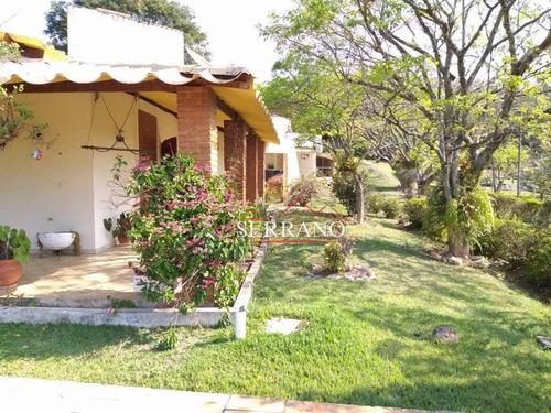 Chácara Com 4 Dormitórios À Venda, 6700 M² Por R$ 1.800.000,00 - Condomínio Vale Da Santa Fé - Vinhedo/sp - Ch0034