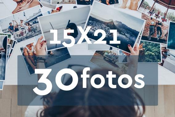 Revelação De Fotos 15x21 - 30 Unid - Grátis 4 Fotos 10x15