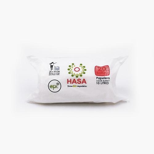 Bolsa Biodegradable Hasa Blanca 35x50cm Rollo De 20 Uds.