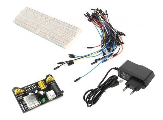 Kit Protoboard + Fonte 9v 1a