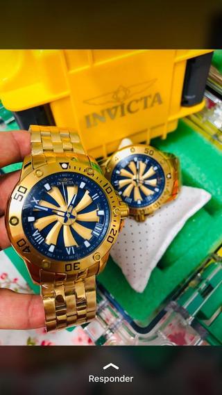 Relógio Invicta Speedway Turbine Dourado