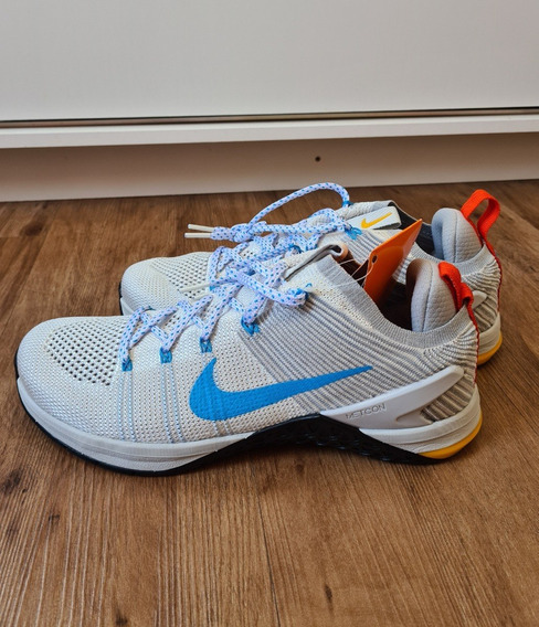 Tênis Nike Dsx Flyknit 2 Azul/cinza - Frete Grátis