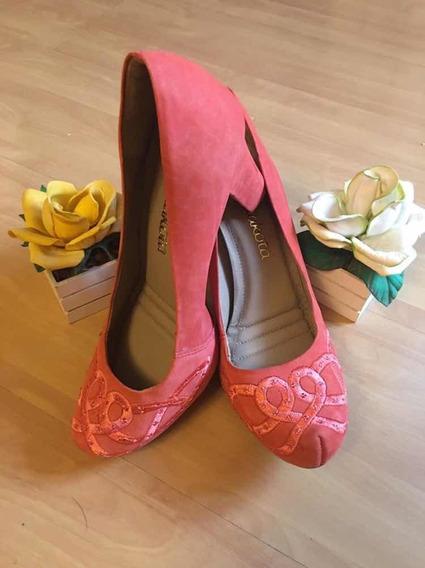 Sapato Feminino Scarpin Dakota De Camurça Tam. 37