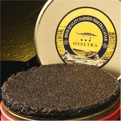 Bemka.com Ossetra Rusa Crown Farmed Caviar, Tarro De 1 Onza