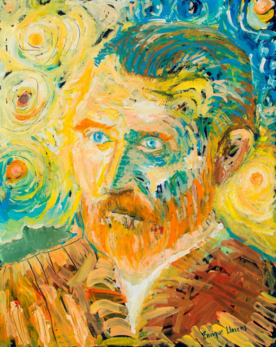 Van Gogh Y Sus Soles Obra De Arte Original Enrique Llorens