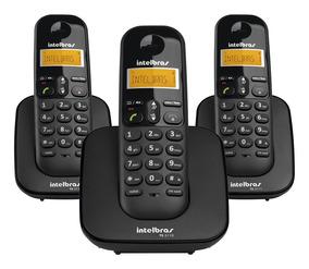 Telefone Sem Fio Ts3113 + 2 Ramais Adicionais - Intelbras