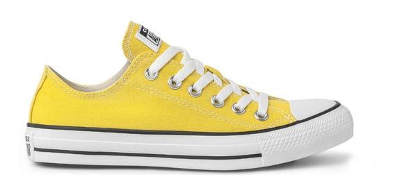 Tênis All Star Converse Cano Baixo Amarelo Original
