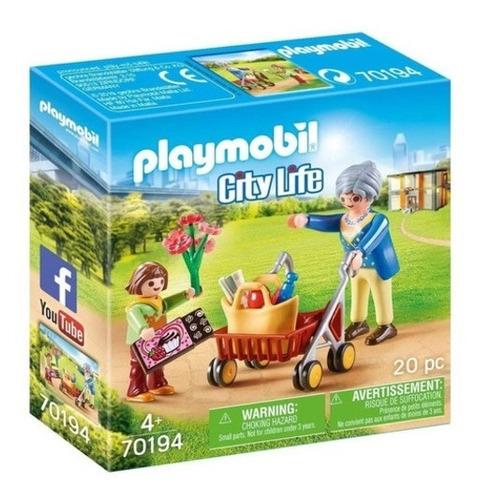 Playmobil City Life Abuela Y Niño Art 70194