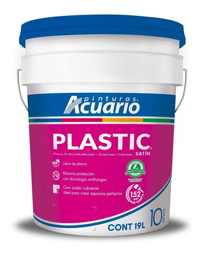 Imagen 1 de 1 de Pintura Acrílica Acuario Plastic 10 Años - 19l