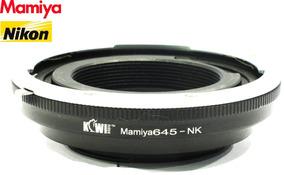 Adaptador De Lentes Mamiya Formato 645 Para Câmeras Nikon