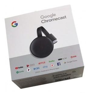 Google Chromecast 3 Generacion Smart Tv Hdmi Usb Nuevo Orig