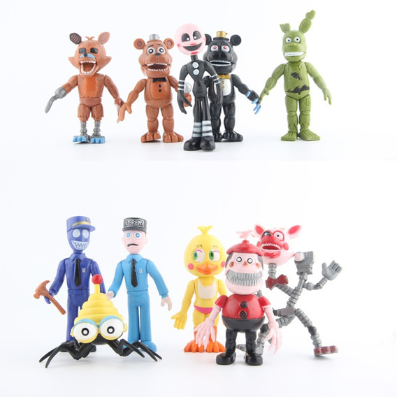 Fnaf Mike Schmidt Freddy Chica Bonnie Foxy Mangle Bb Puppet