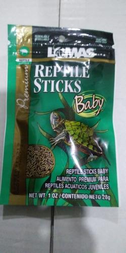 Imagen 1 de 1 de Lomas Reptile Sticks Baby 28 Grs Alimento Tortuga Crecimiento Desarrollo Salud Bienestar