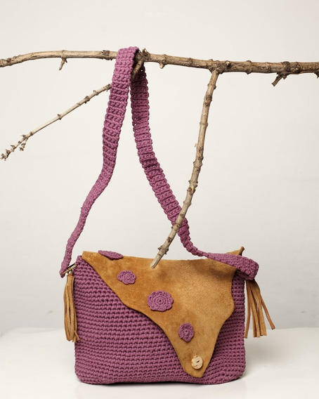 Cartera Tejida Al Crochet Paraiso