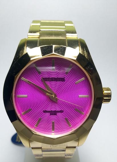 Relógio Atlantis Feminino Analógico Pulseira De Aço Casual Dourado Luxo Original Mulher Lançamento Nota Fiscal