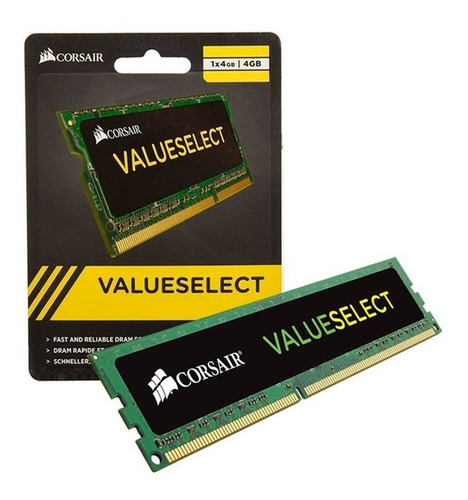 Memoria Ram Corsair Value 4gb Ddr3 1600mhz Dimm