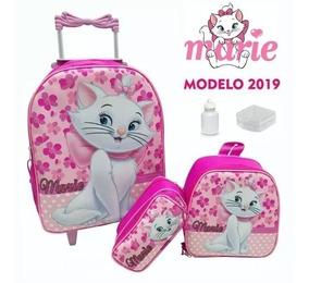 Kit Mochila Carrinho Infantil Minnie 2019 3d Rodinhas