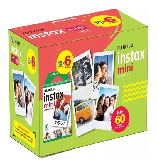 Filme Instax Mini 60 Fotos Poses Caixa Lacrada Fujifilm