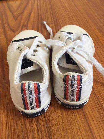 Zapatillas Blancas Topper De Lona Talle 22 En Buen Estado