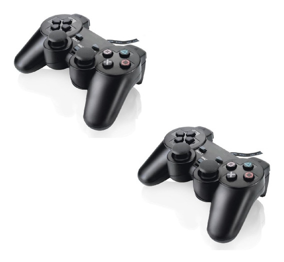 Controle Manete Joystick Ps2 Playstation 2 Vibra - Kit Com 2