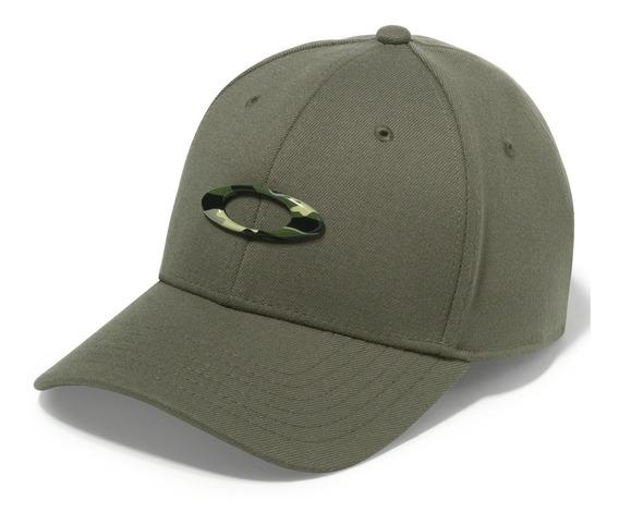 Boné Oakley Tincan Cap Verde Com Logo Camuflado