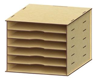 2 Pzas Organizador Archivos Documentos Mdf, Papeleria Rg485