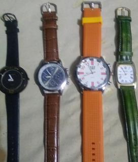 Relojes Funcionando Dama Y Hombre 003 X 4 Unidades