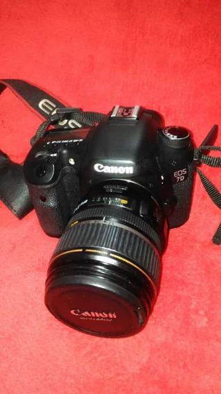 Kit Camera Canon 7d Flash- Lentes- Grip- Bateria-carregador