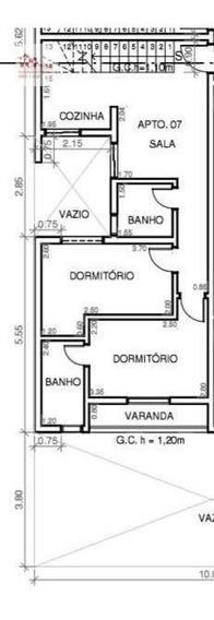 Cobertura Com 2 Dormitórios À Venda, 100 M² Por R$ 290.000,00 - Vila Curuçá - Santo André/sp - Co0738