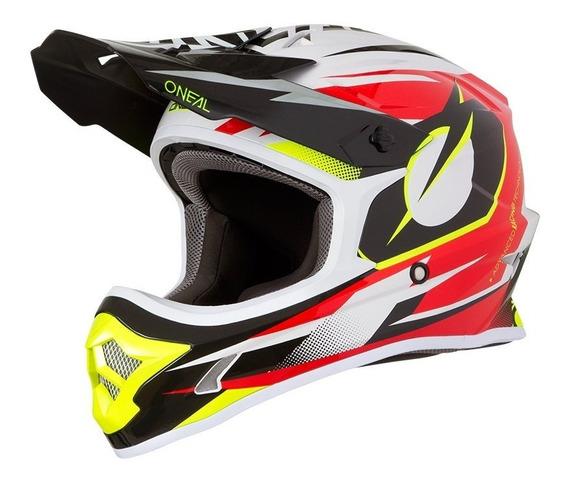 Capacete Oneal 3 Series Riff Vermelho Motocross Trilha