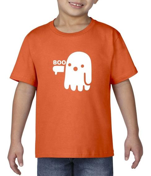 Camiseta Playera Bebe Niño Halloween Fantasma Boo Terror