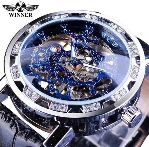 Relógios Masculinos Fabricação Winner Diamond - Relógio Executivo Luxo - Modelos Importados A Pronta Entrega
