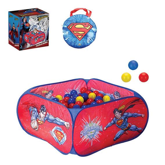 Piscina De Bolinhas Infantil Superman Com 100 Bolinhas