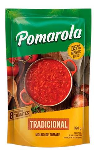 Imagem 1 de 1 de Molho De Tomate Tradicional Pomarola Sem Glúten Sachê - 320g