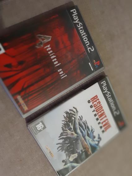 Resident Evil 4 / Resident Evil Outbreak Original Ps2 Pal