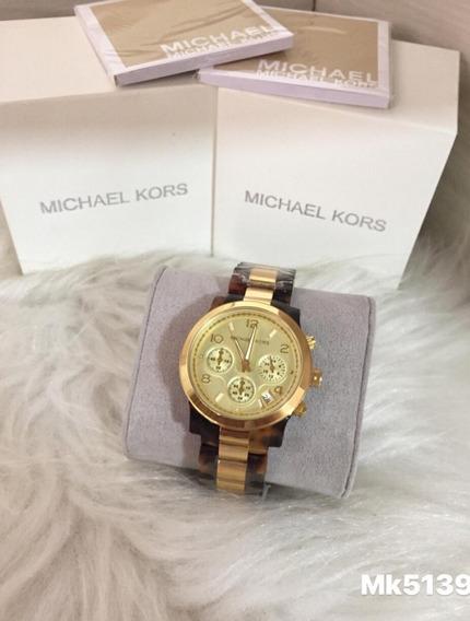 Relógio Mj88 Misto Michael Kors Feminino Mk5139 Lindo Oferta