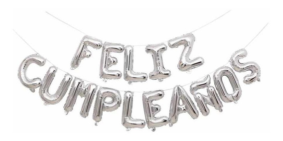 Globos Metalizados Feliz Cumpleaños Rosa Gold / Silver Deco
