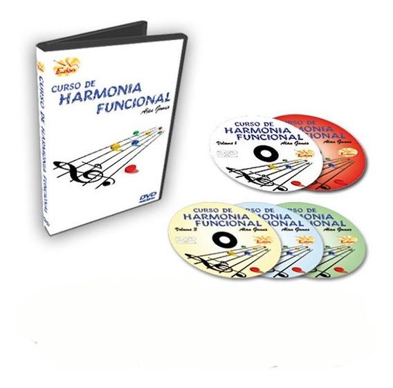 Coleção Curso De Harmonia Funcional Em 5 Dvds -original