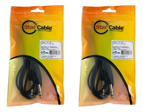 Kit 2 Cabo Audio Star Cable P10st X P10st 4mm 2 Mt