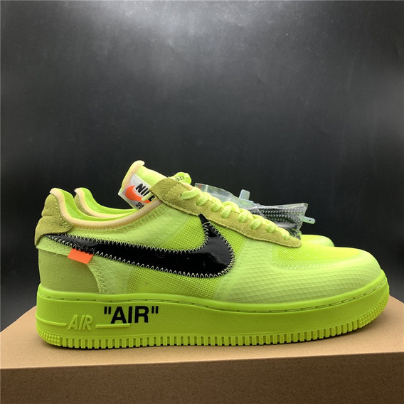 Tenis Air Force 1 Offwhite Volt