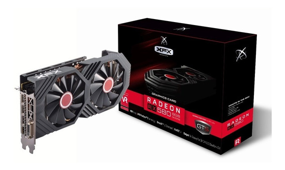 Placa de vídeo XFX Radeon RX 500 Series RX-580P8DFD6 8GB