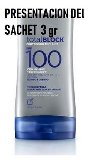 Sachet Total Block Spf 100 3gr Yanbal - mL a $567