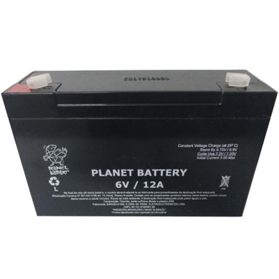 Bateria 6v 12ah Moto Elétrica Brinquedo Carrinho Carro