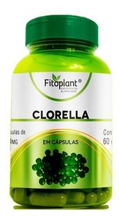 Clorella Pura120 Cápsulas 500mg 12 Potes Atacado Premiun Fitoplant Original