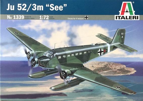 Miniatura Avião Junkers Ju-52 / 3m See Kit Italeri 1/72